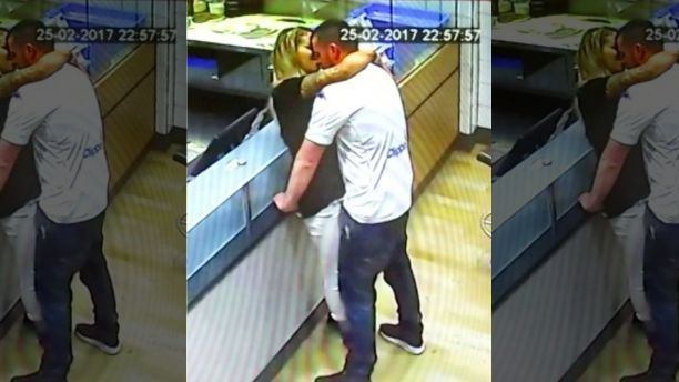 Couple caught on security camera